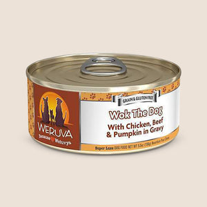 Weruva Canned Dog Food Weruva Wok the Dog with Chicken, Beef & Pumpkin in Gravy Grain-Free Canned Dog Food