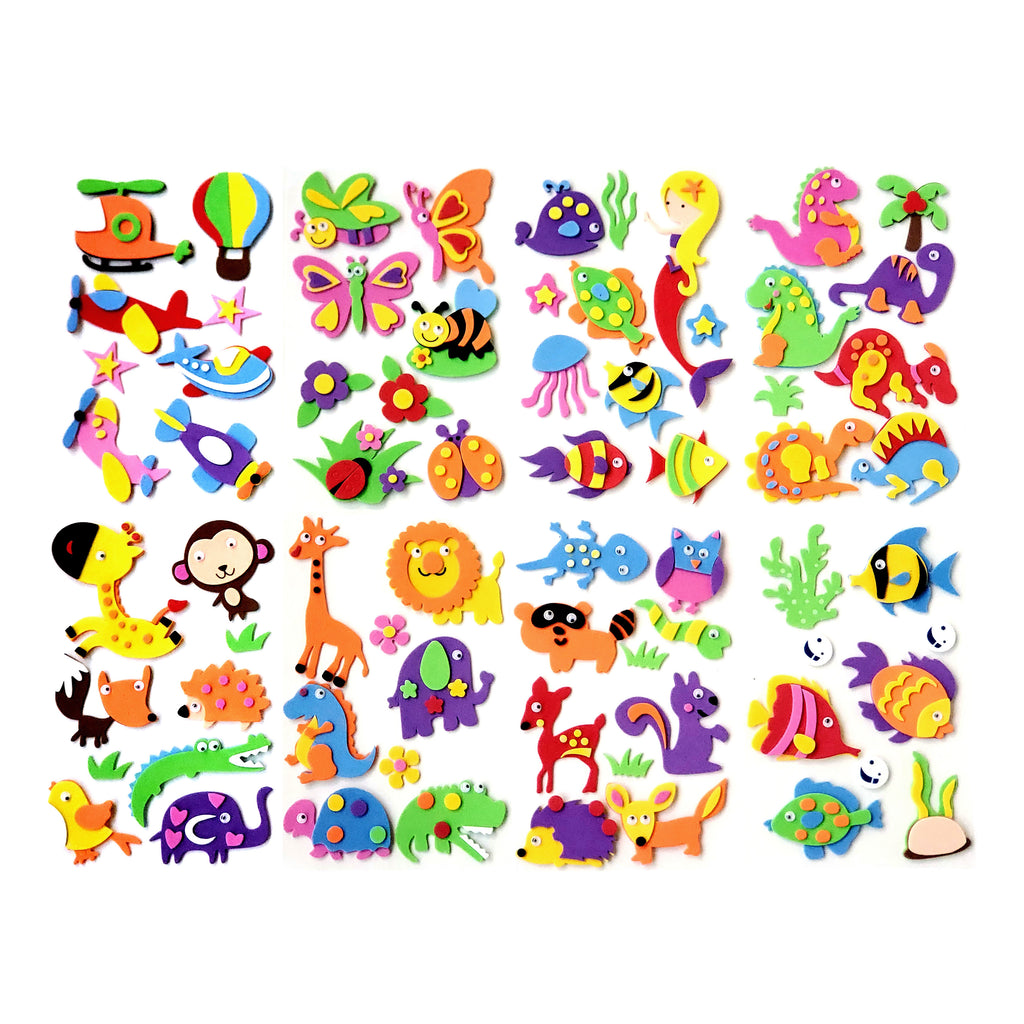 Critter Sticker Collection         -   72 fun characters