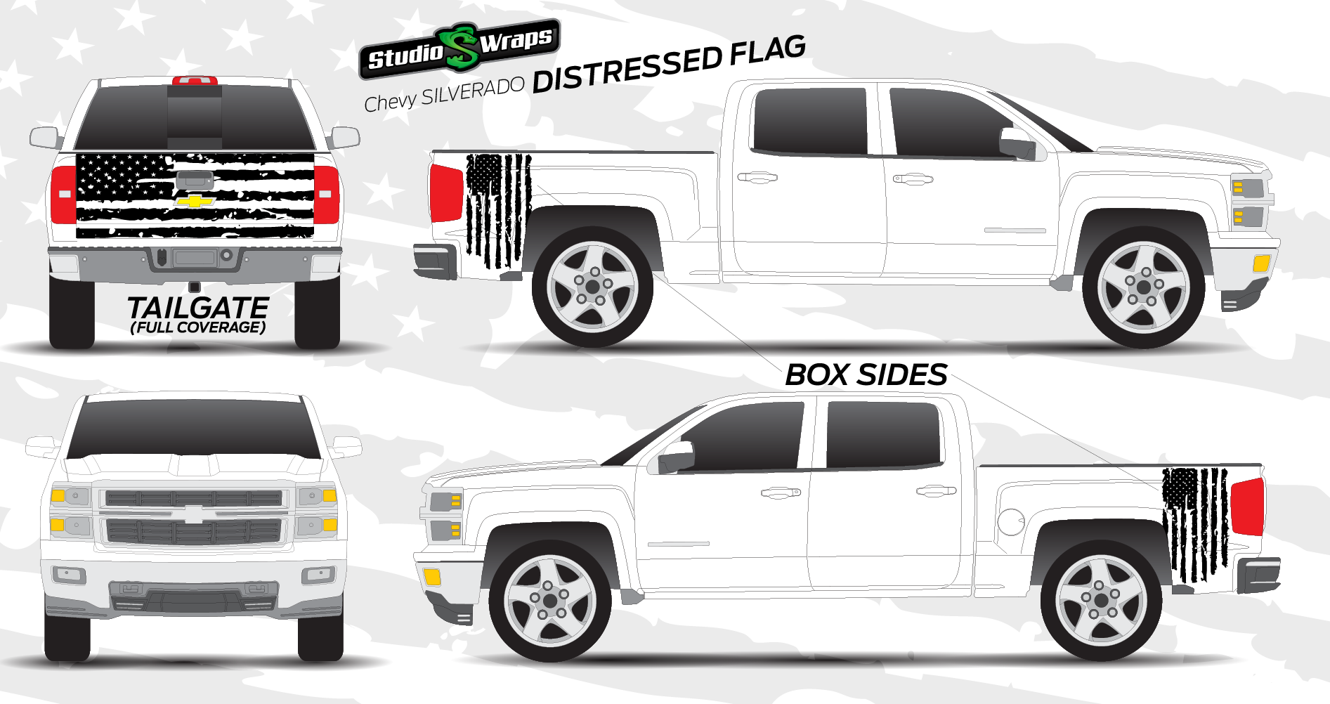 Distressed Flag Graphic Kit // For Sale