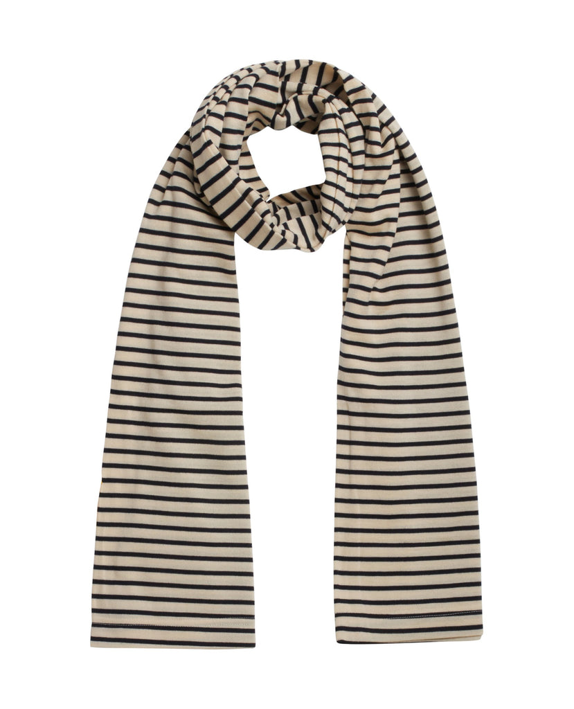UNDER tubular scarf<br>Cream / navy blue [M]