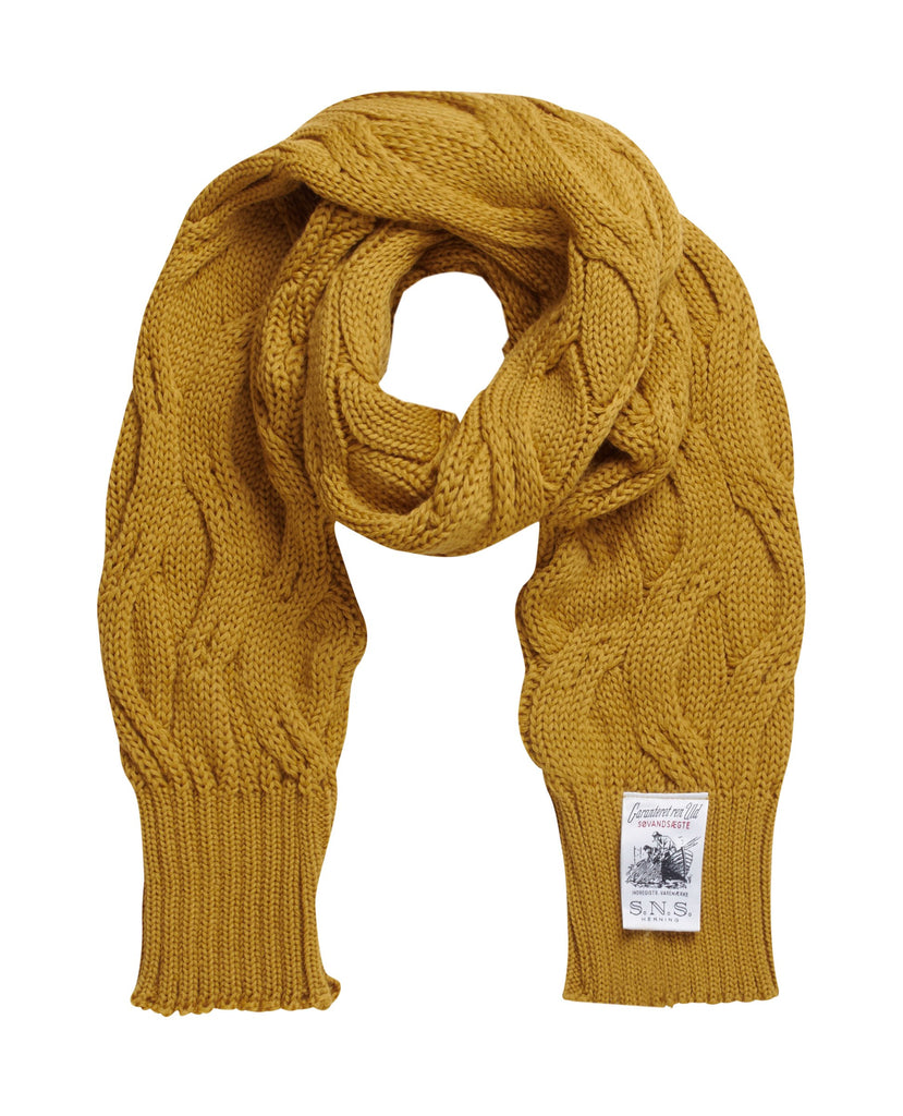 DEMENTIA scarf<br>curry yellow