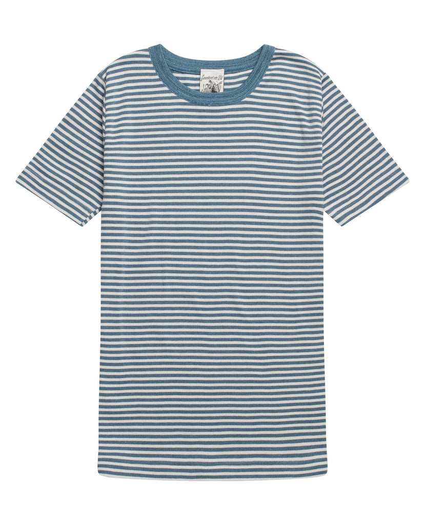 RITE t-shirt<br>blue moiré / clear grey