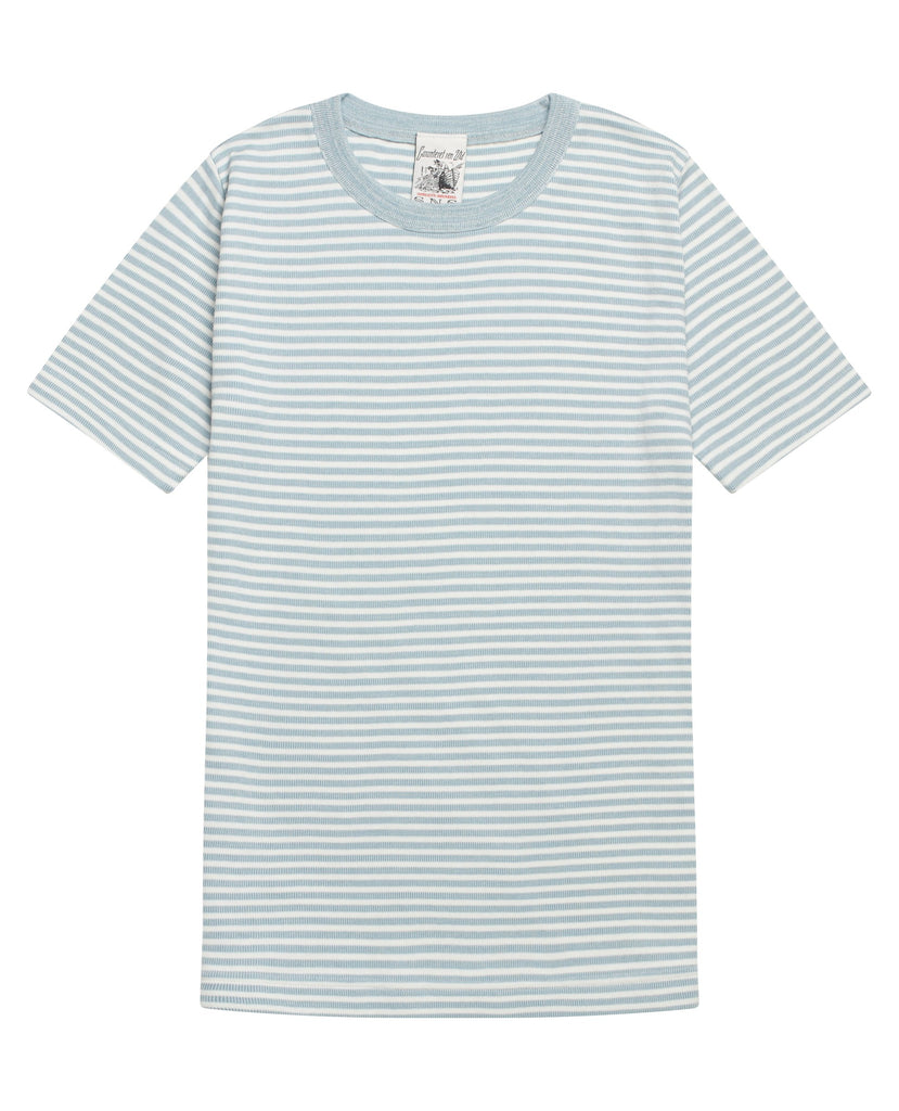 RITE t-shirt<br>light blue moiré / white