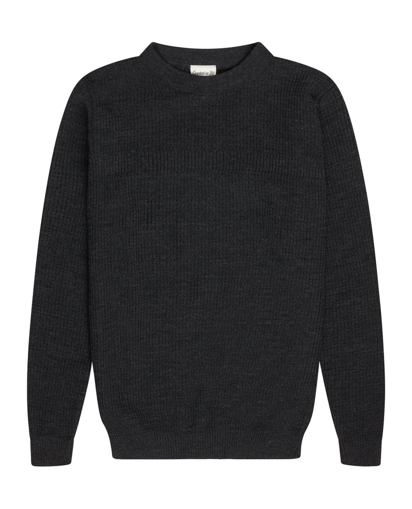 ROENTGEN sweater<br>black melange