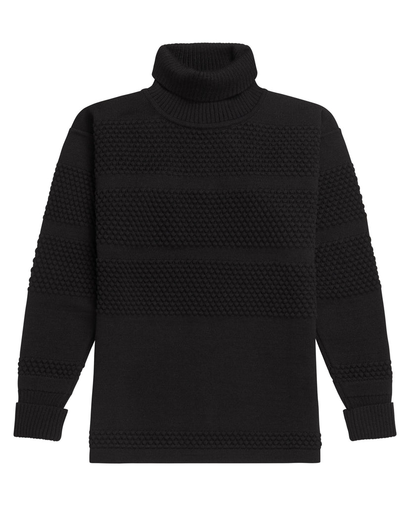 FISHERMAN sweater | høj hals<br>black void