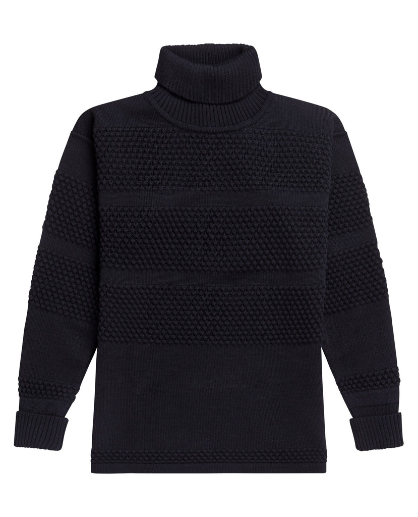 FISHERMAN sweater | høj hals<br>navy blue