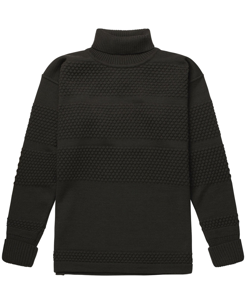 FISHERMAN sweater | høj hals<br>lacquer green
