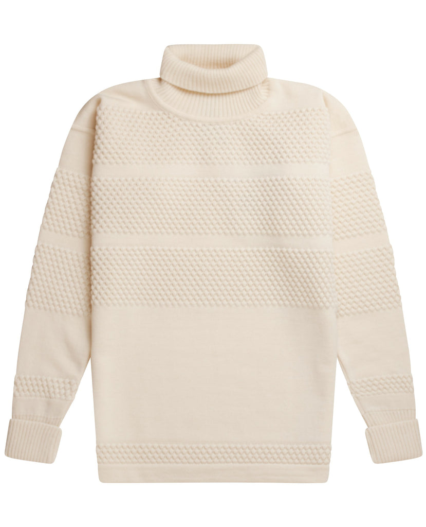 "FISHERMAN sweater | høj hals<br>"" off white """