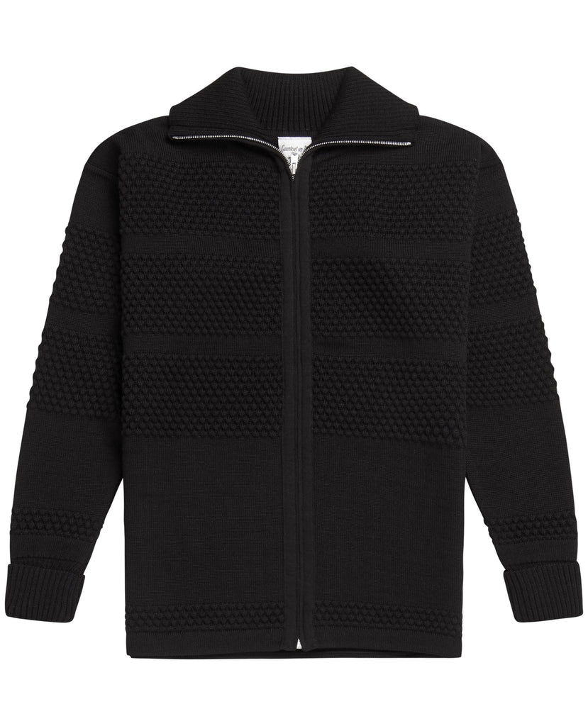 FISHERMAN full zip | lang lynlås<br>black void
