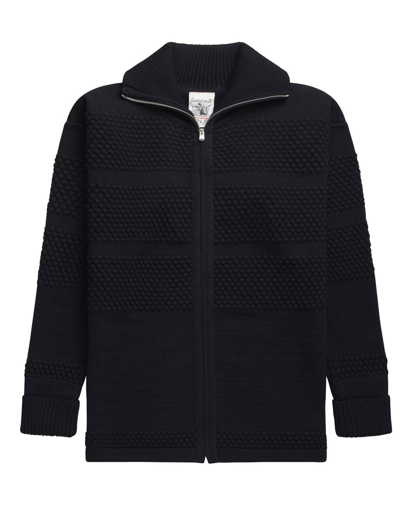 FISHERMAN full zip | lang lynlås<br>navy blue
