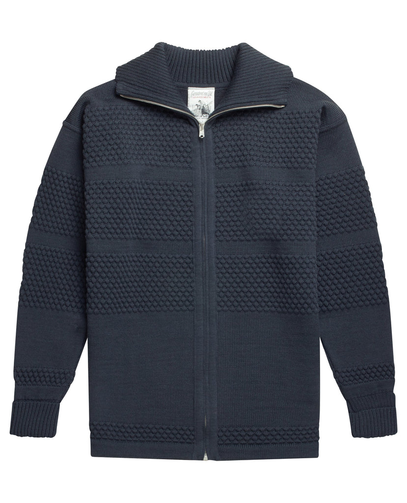 FISHERMAN full zip | lang lynlås<br>aviator grey