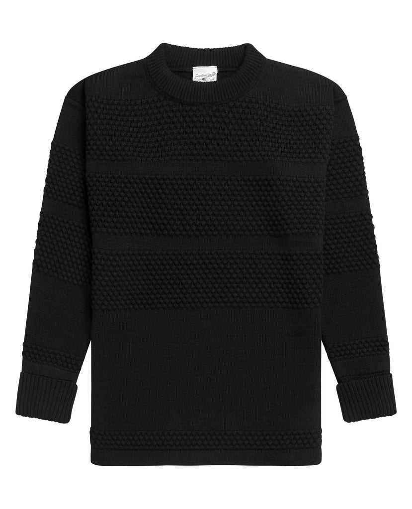 FISHERMAN crew neck | rund hals<br>black void
