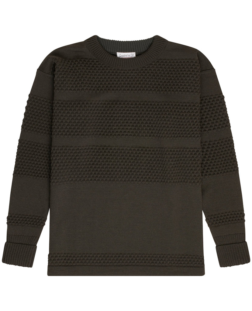FISHERMAN crew neck | rund hals<br>lacquer green