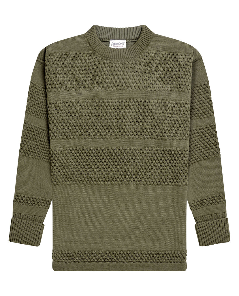 FISHERMAN crew neck | rund hals<br>rope grey