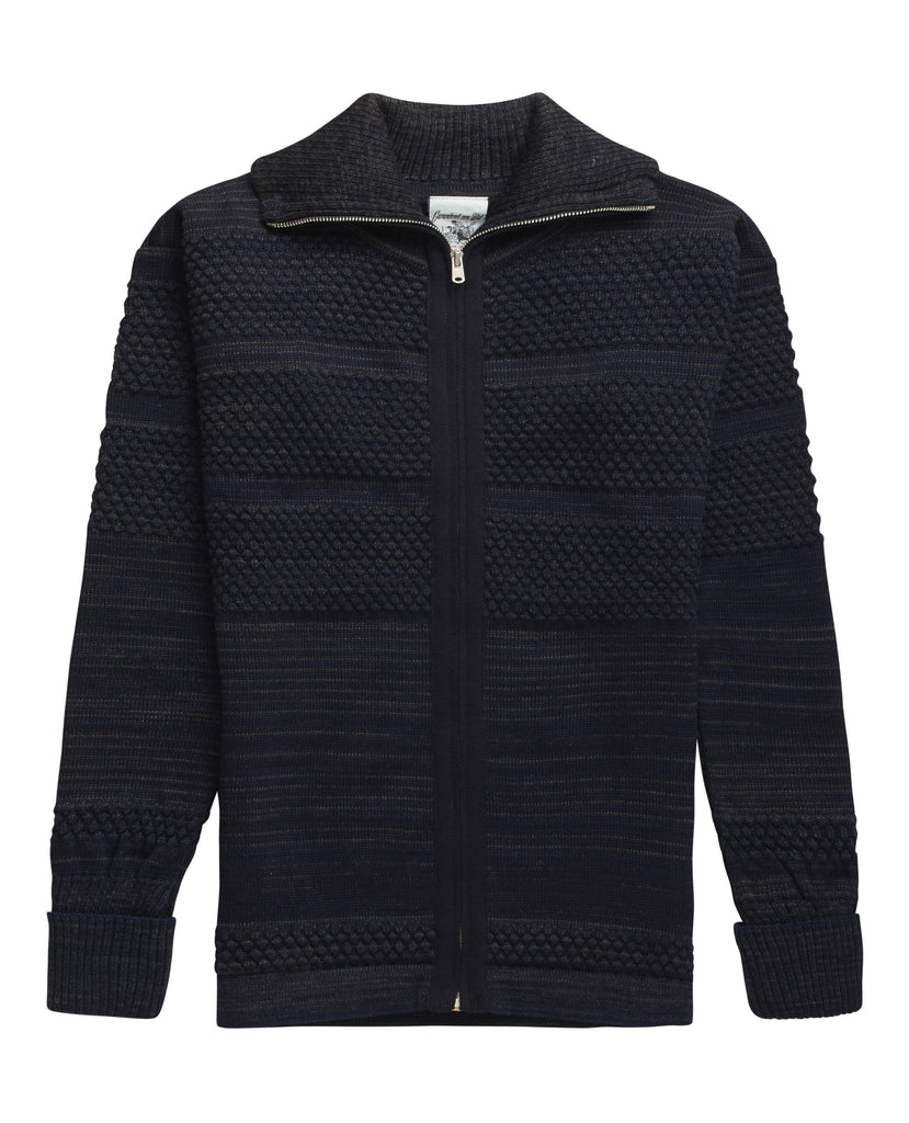FISHERMAN jacket<br>navy blue mix
