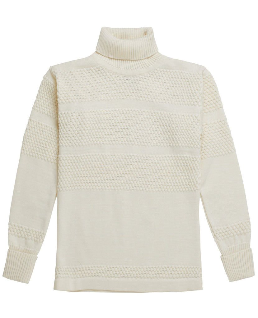 FISHERMAN sweater<br>off white