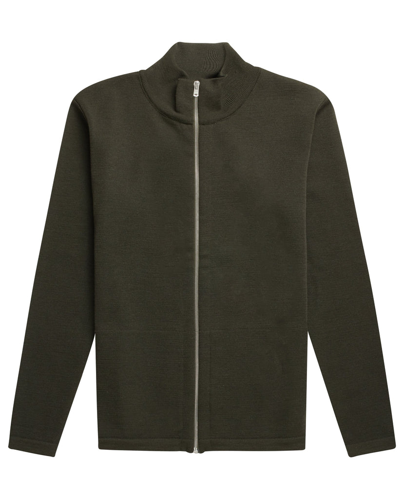NAVAL full zip | lang lynlås<br>deep bronze green