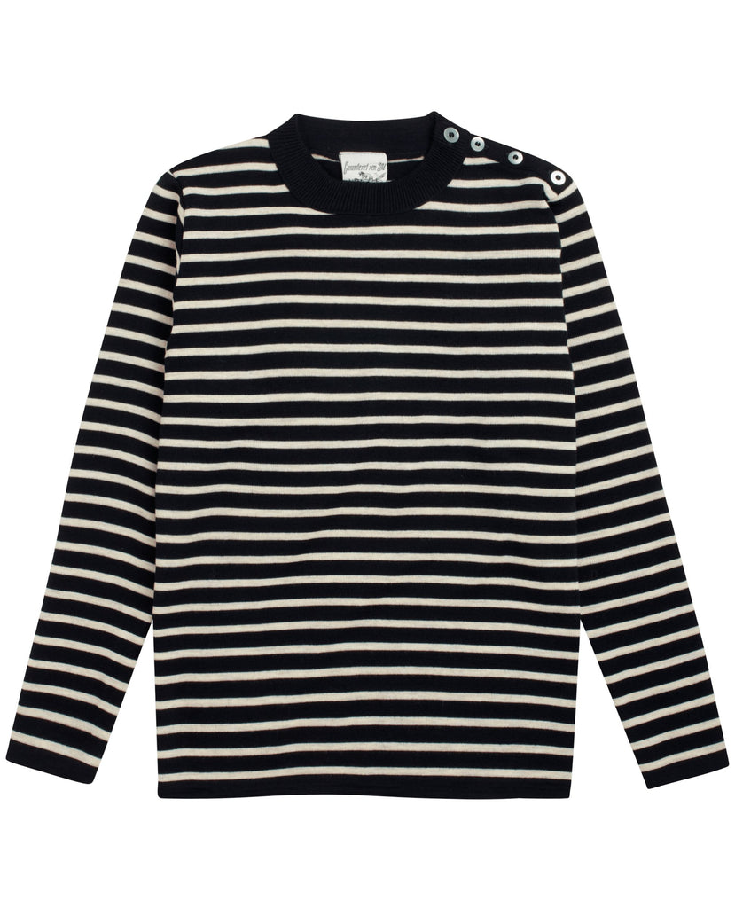 NAVAL crew neck<br>navy blue / raw