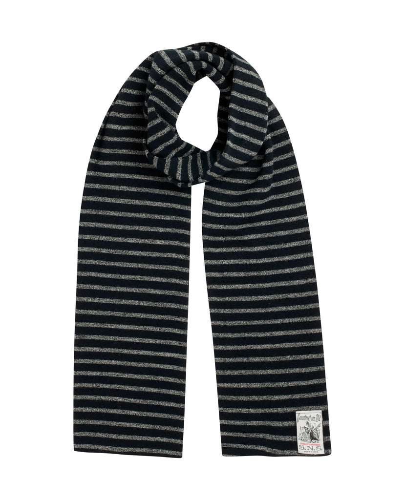 NAVAL scarf<br>black lake / white noise