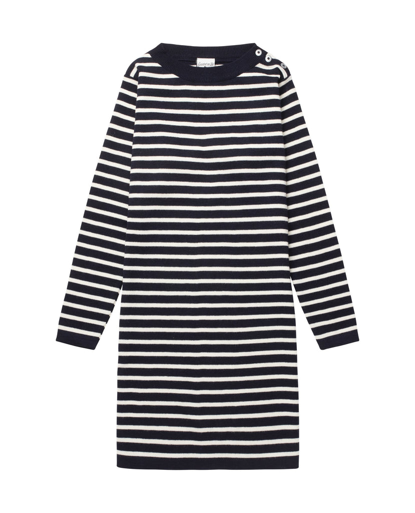 NAVAL dress<br>navy blue / off w