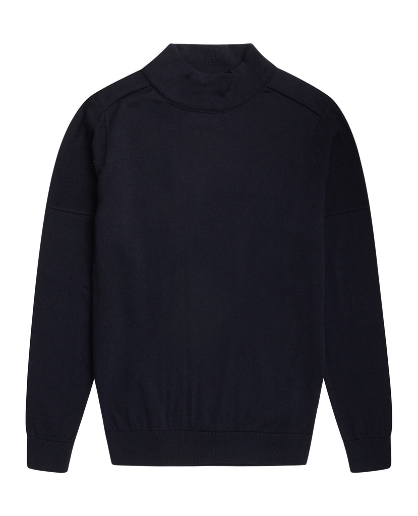 CIVIL sweater | høj hals<br>navy blue [2] (M)