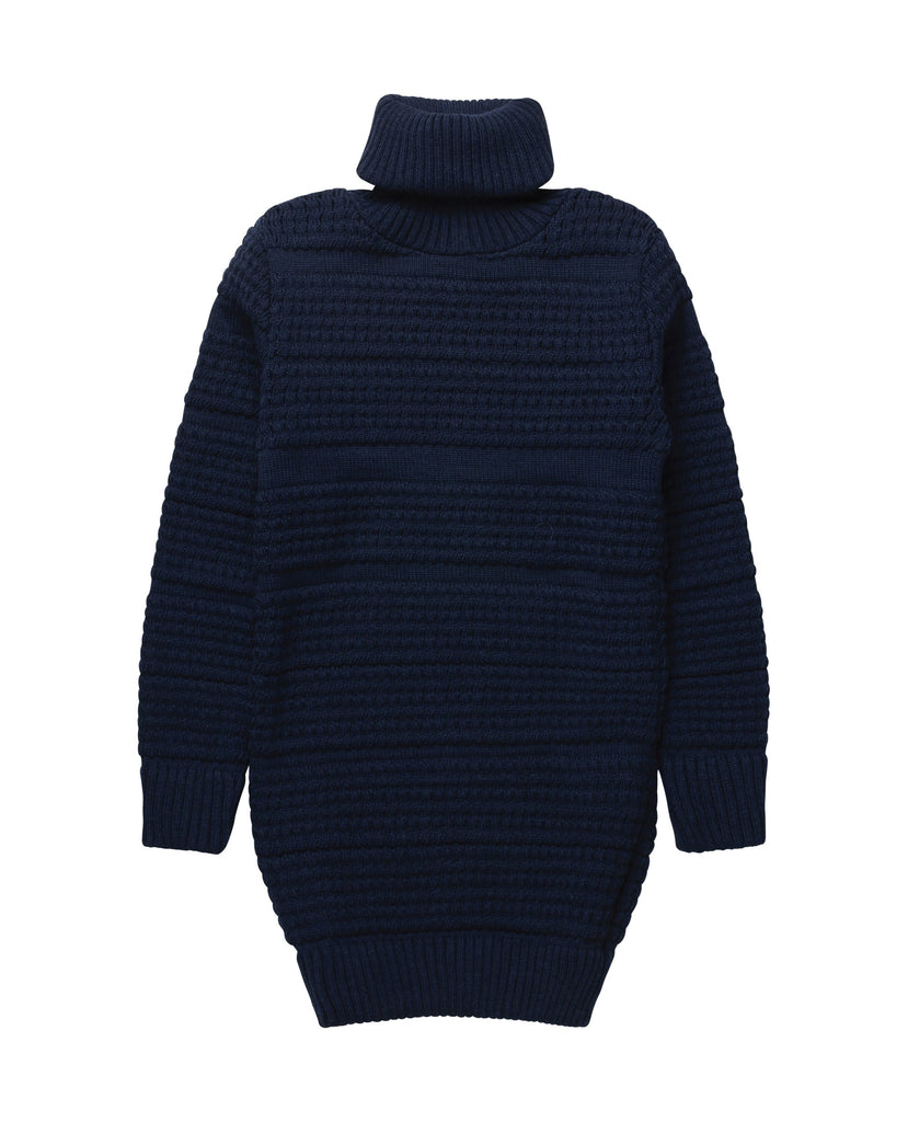 RATIO long sweater<br>indigo melange