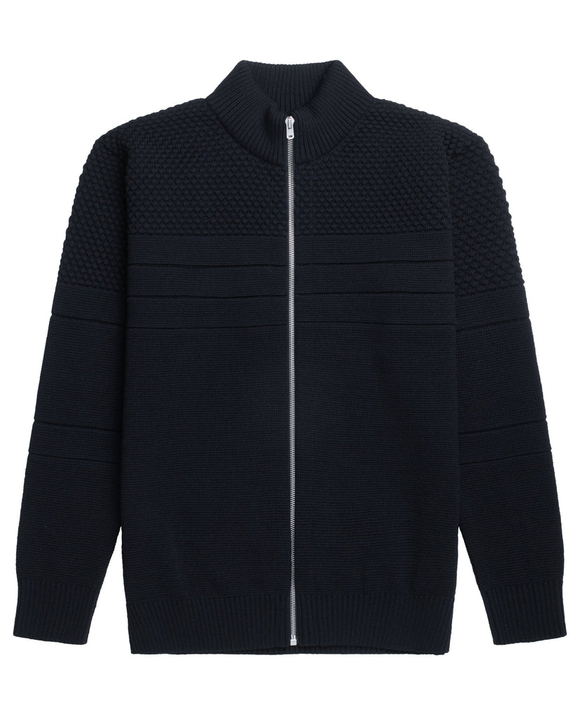 SENTIMENTAL full zip | lang lynlås<br>navy blue [2]