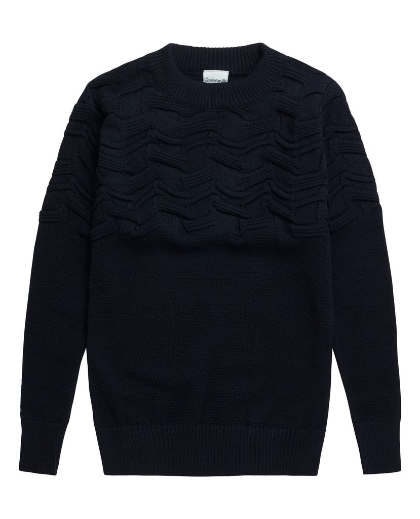 MEMO sweater<br>navy blue