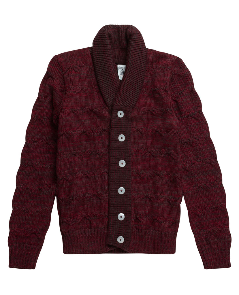 MEMENTO cardigan<br>oxblood mix
