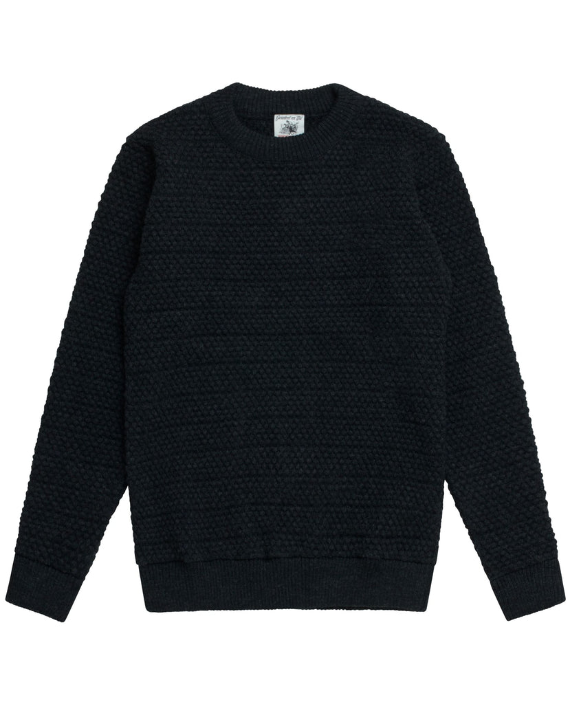 AMALGAM sweater<br>black melange