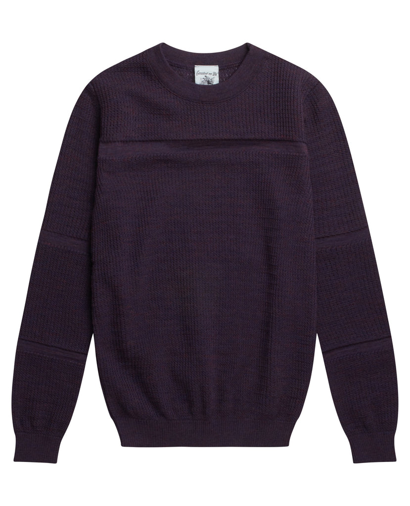 TRANSPARENT sweater<br>purple melange