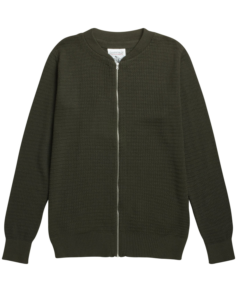 TRANSPARENT II full zip | lang lynlås<br>deep bronze green (M)_