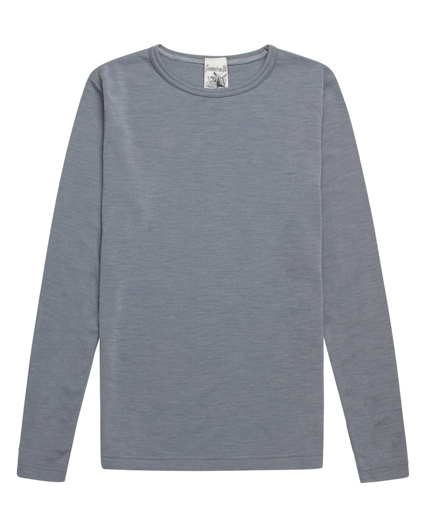 HELIX crew neck<br>feeling blue moiré