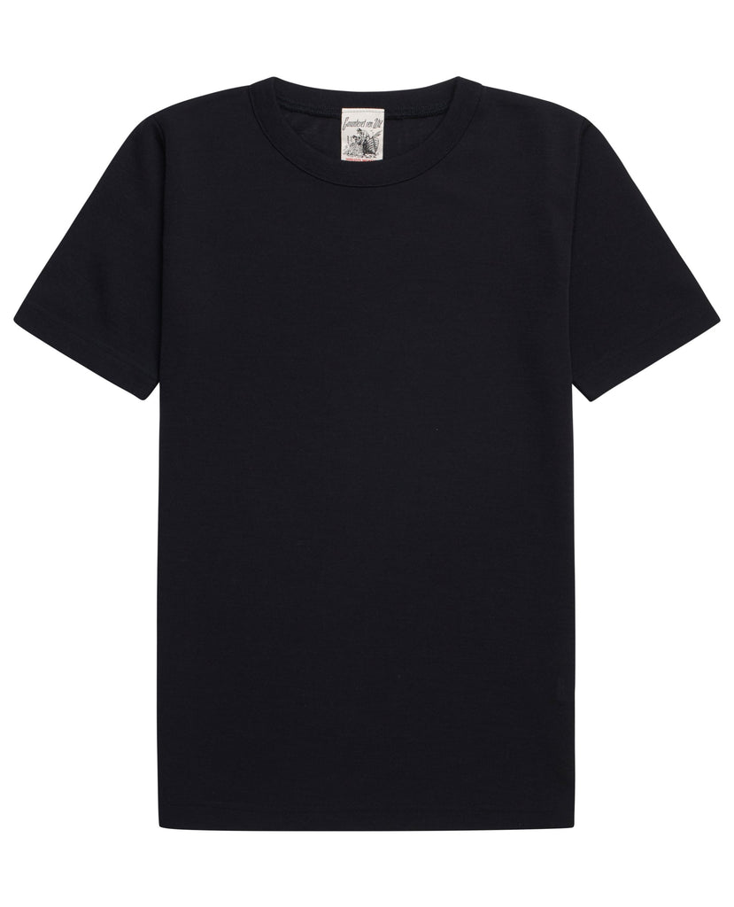 HELIX wool t-shirt<br>flash black