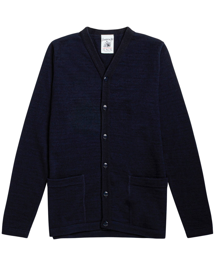 ALTER fitted cardigan<br>Navy blue blend