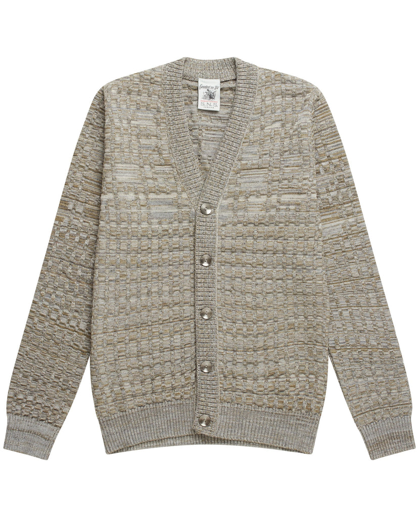 BABEL cardigan<br>grey melange mix