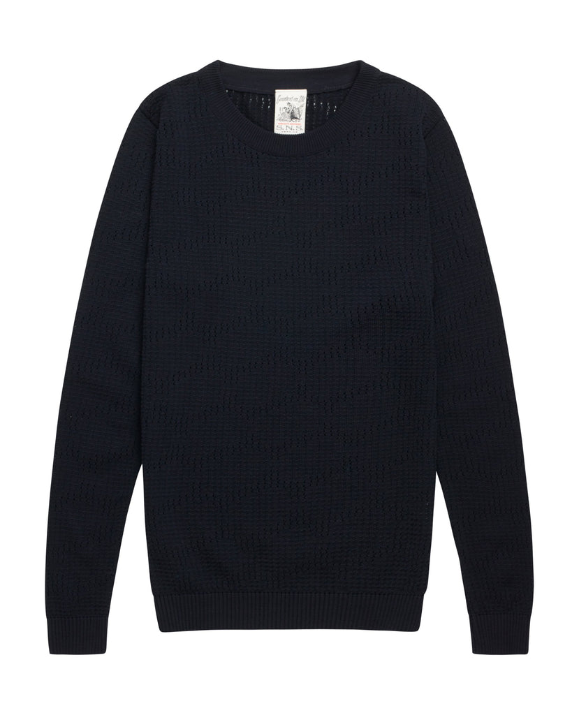 RASTER crew neck<br>dark navy