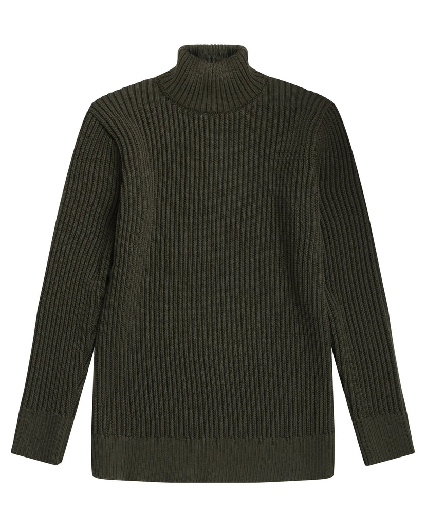 FANG-III sweater | høj hals<br>deep bronze green