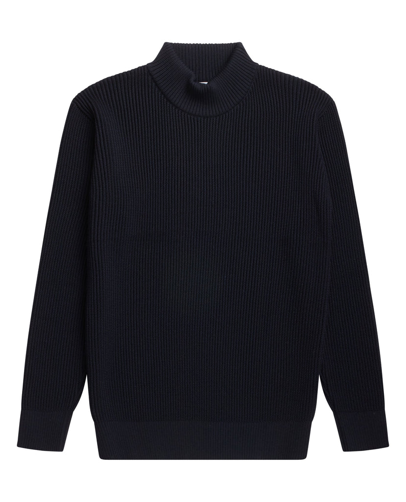 FENDER sweater | høj hals<br>navy blue