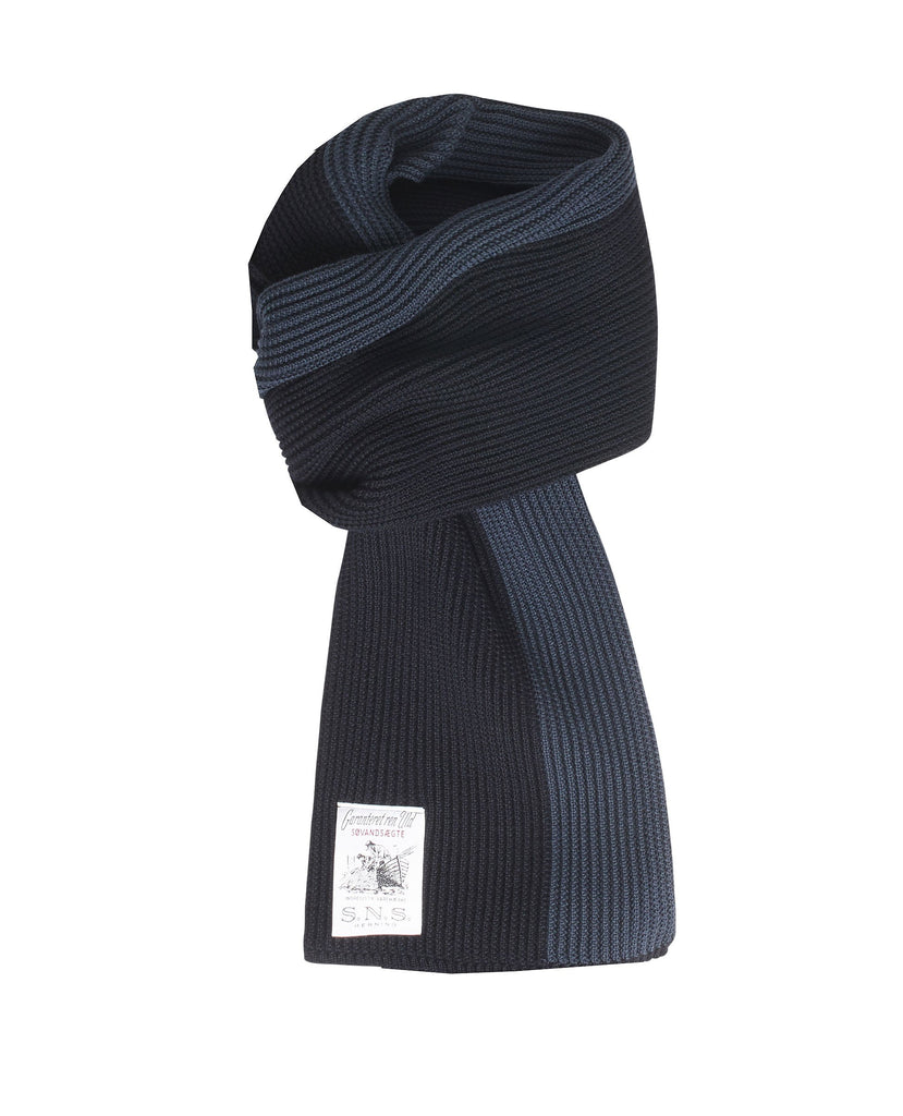SPLIT scarf<br>navy blue / mental blue