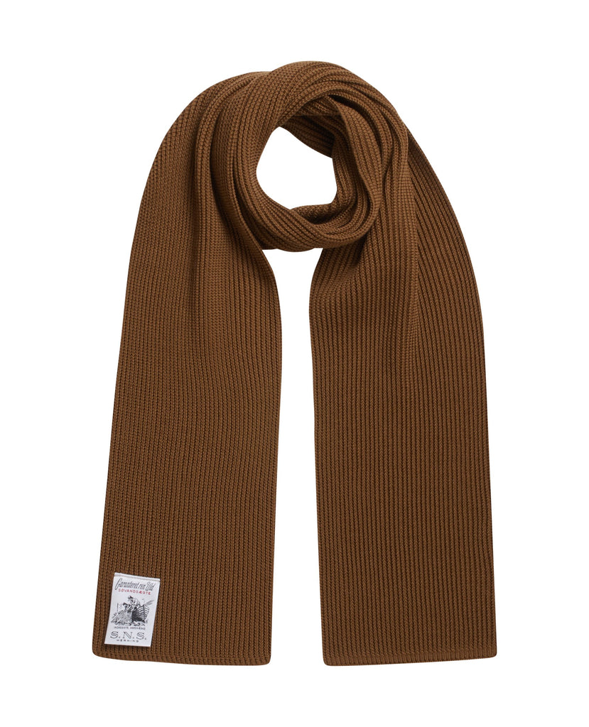 SPLIT scarf<br>golden camel (M)