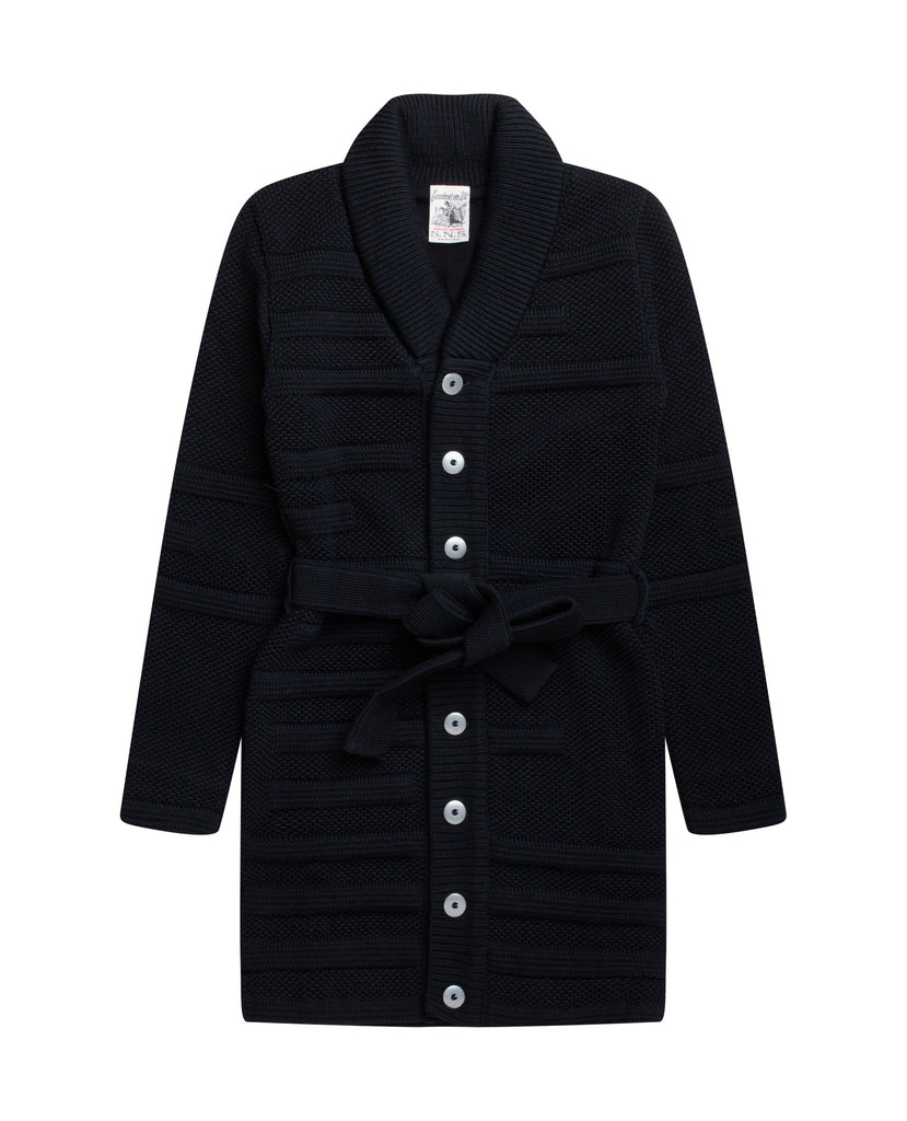 DIFFERENTIAL fitted cardigan<br>Black lake blend