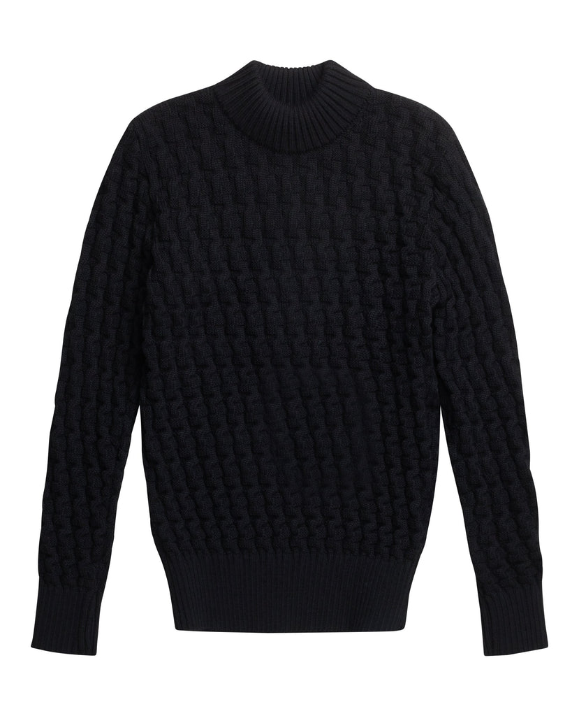 STARK sweater | høj hals<br>black void [0]