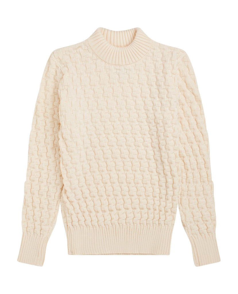 "STARK sweater | høj hals<br>"" off white """