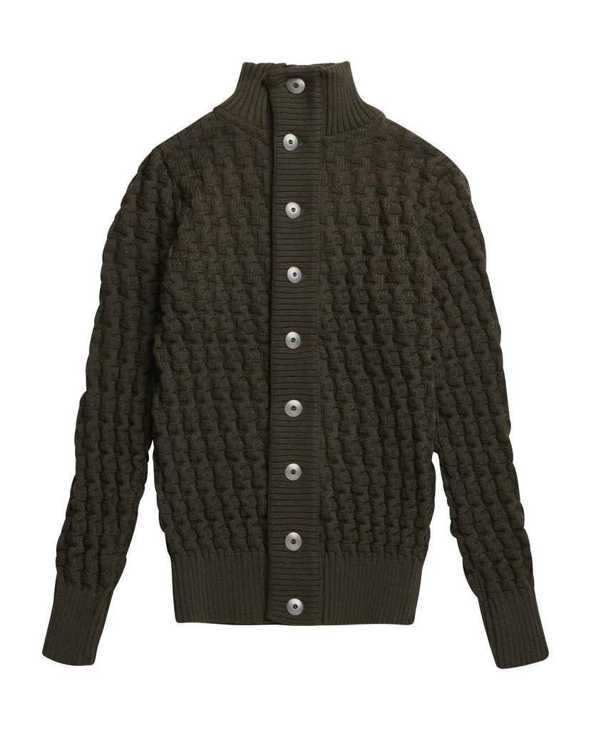 STARK cardigan<br>deep bronze green