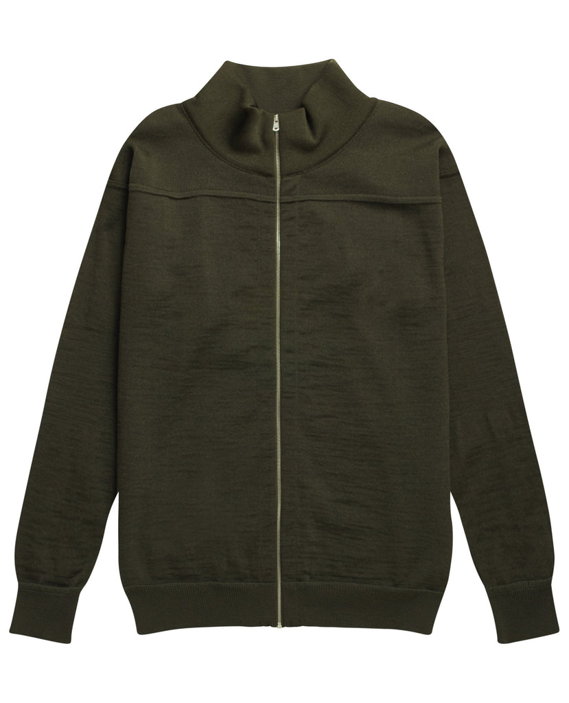 ELEMENT full zip | lang lynlås<br>deep bronze green