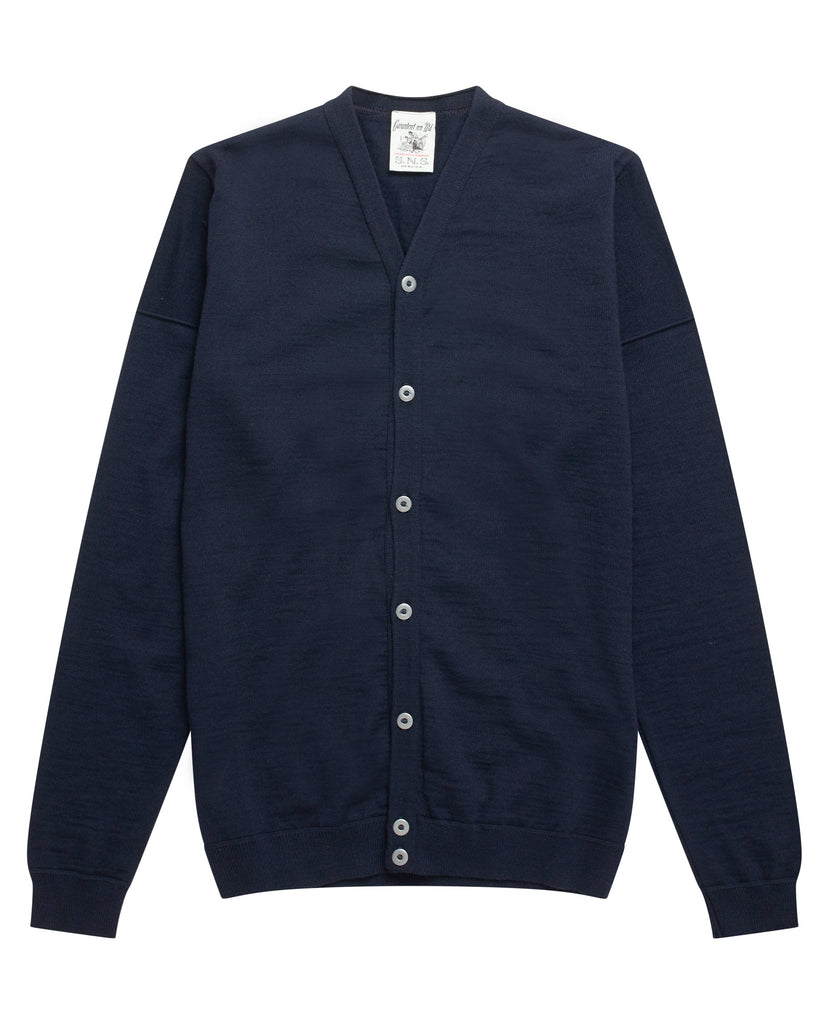 INTRO cardigan <br>compact blue