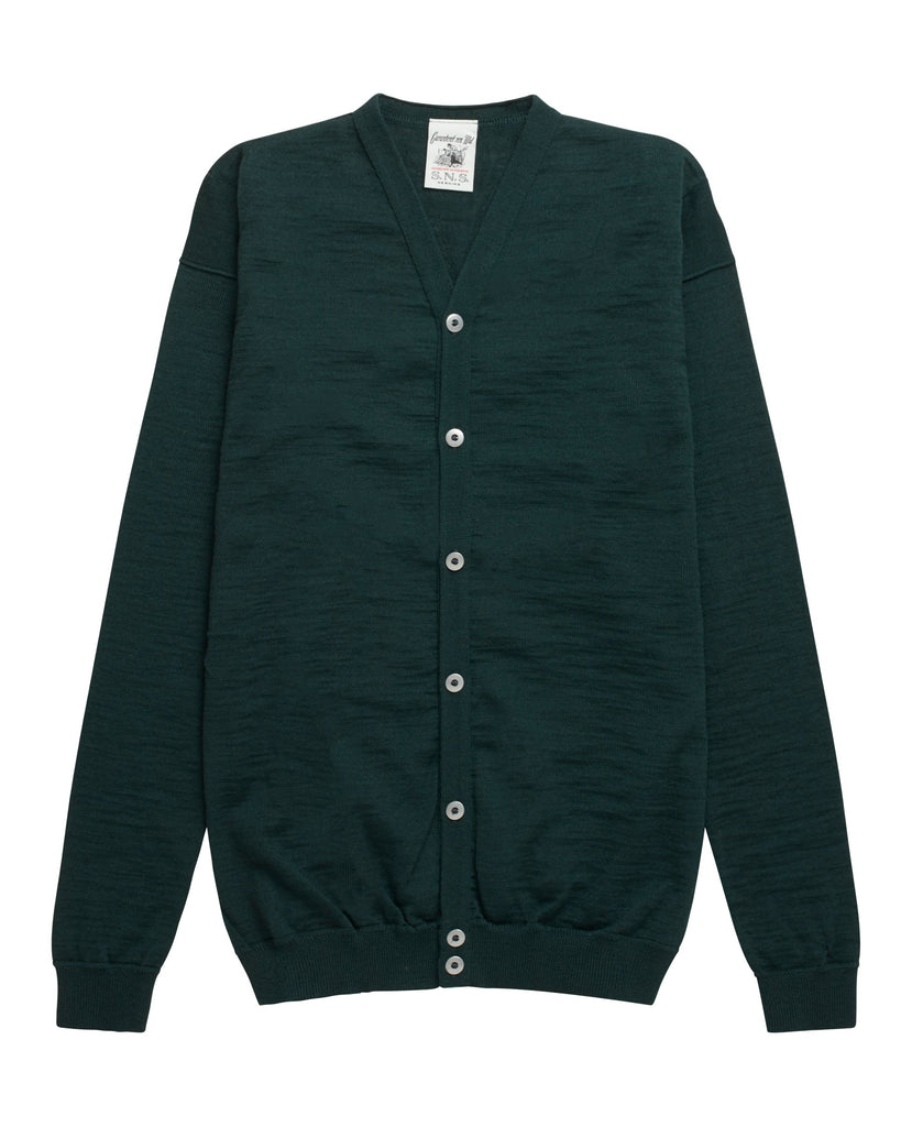 INTRO cardigan <br>green metallic