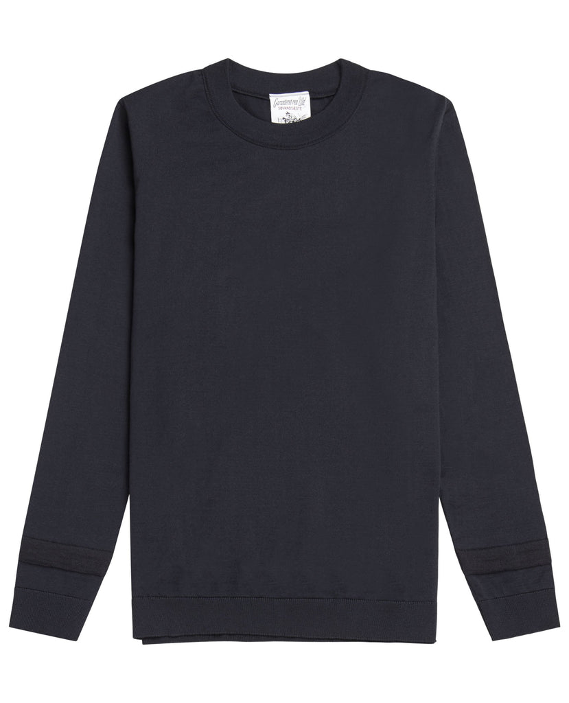 PLAN crew neck<br>mental blue (M)