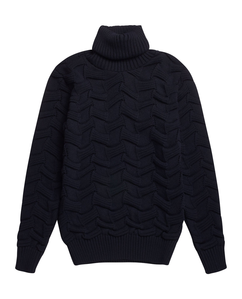 DISPOSITION sweater | høj hals<br>navy blue [2]